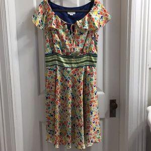Jessica Simpson dress sz 14 butterfly print